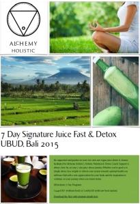 7 Day Signature Detox Bali